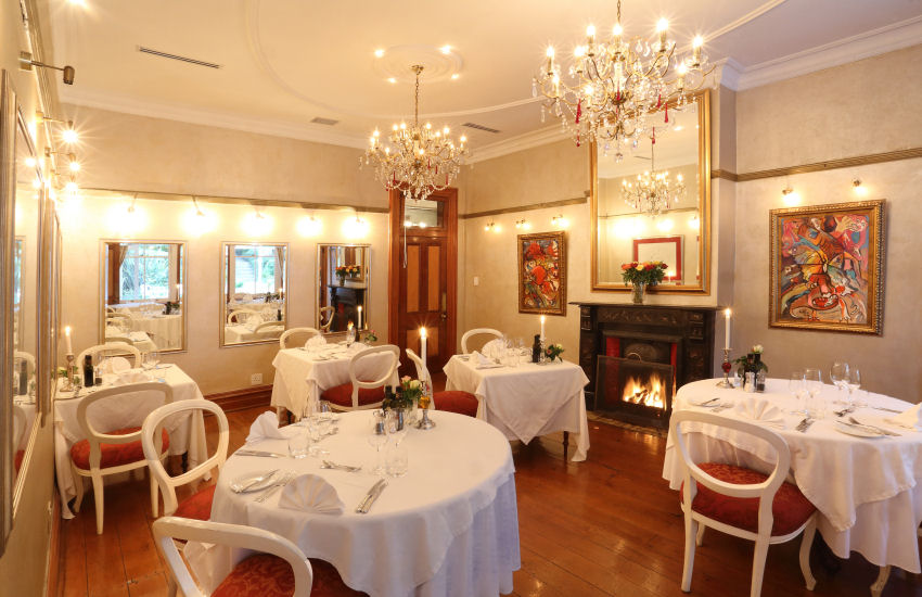 The intimate restaurant